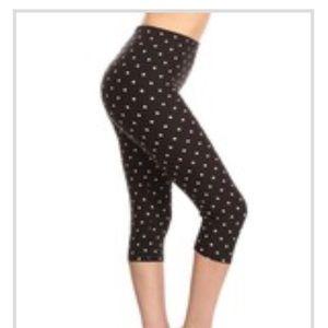 Capri polka dot print Leggings